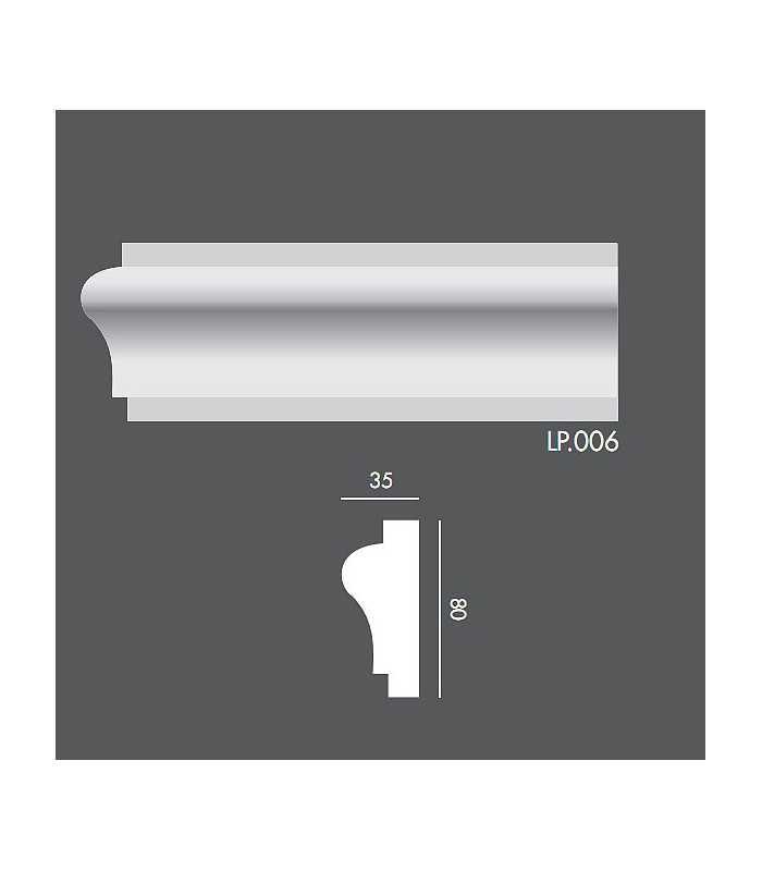 LP006 Profil elewacyjny, listwa elewacyjna