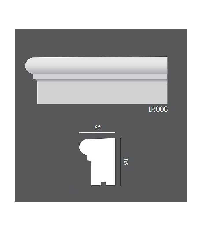 LP008 Profil elewacyjny, listwa elewacyjna