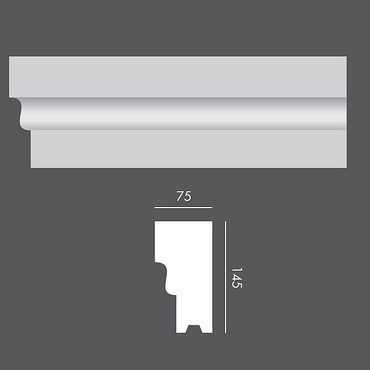 LP043 Profil elewacyjny, listwa elewacyjna