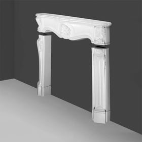 H100 - kompletny kominek dekoracyjny, sztukateria Orac Decor, kolekcja Orac Luxxus