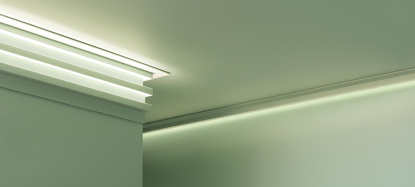 Sufitowe listwy oświetleniowe LED