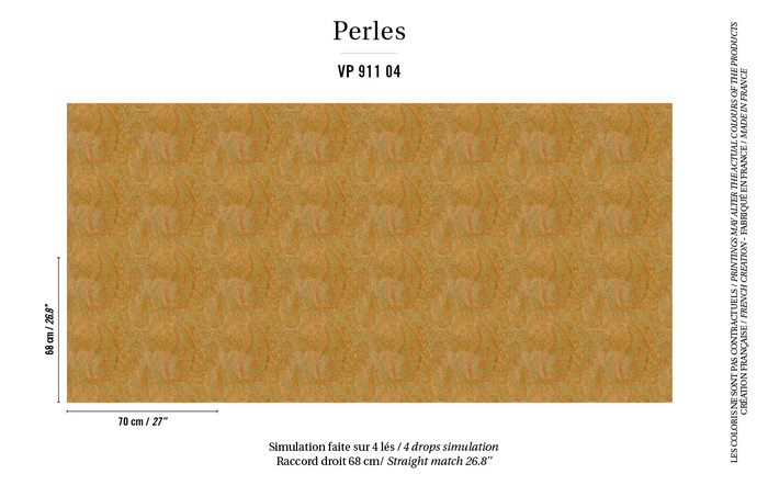 VP91104 – tapeta Tourmaline Perles Elitis