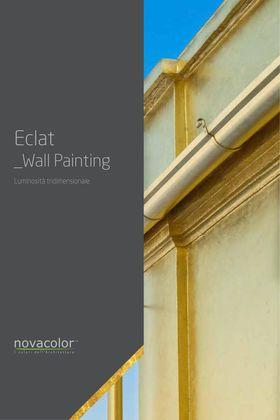 Eclat - dekoracyjny tynk o metalicznym efekcie złota Novacolor