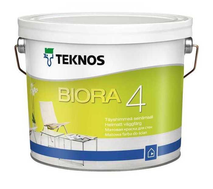 Biora 4 - Farba ścienna Mat Teknos 0.9 L