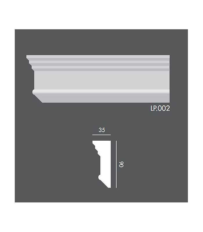 LP002 Profil elewacyjny, listwa elewacyjna