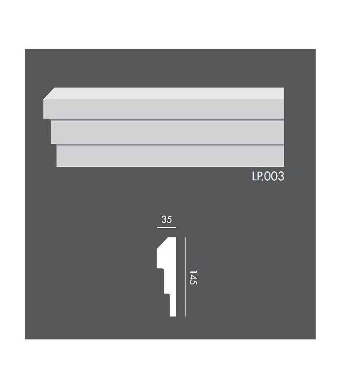 LP003 Profil elewacyjny, listwa elewacyjna
