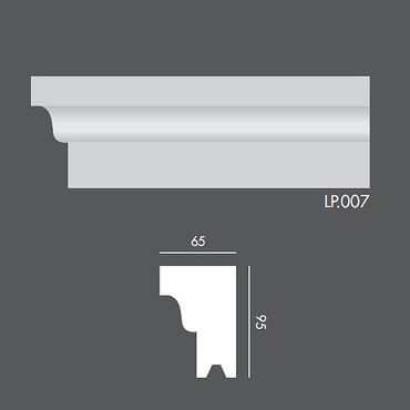 LP007 Profil elewacyjny, listwa elewacyjna