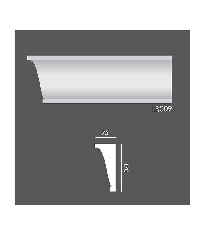 LP009 Profil elewacyjny, listwa elewacyjna
