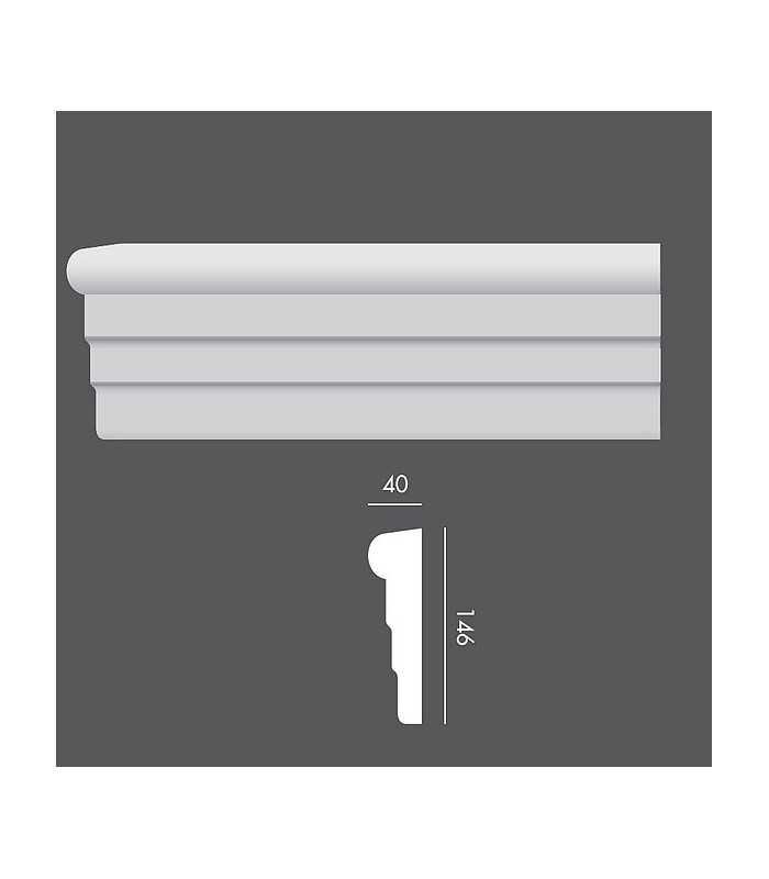 LP017 Profil elewacyjny, listwa elewacyjna