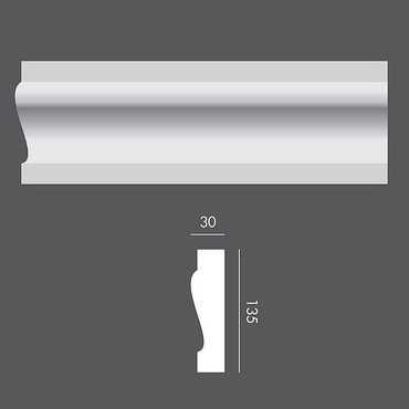 LP045 Profil elewacyjny, listwa elewacyjna