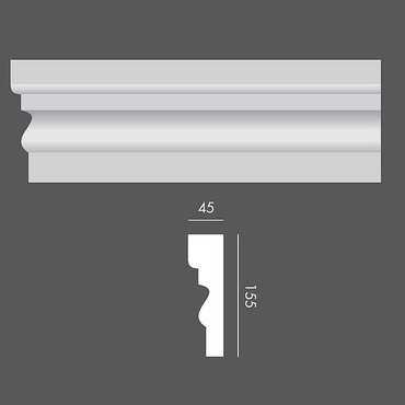 LP046 Profil elewacyjny, listwa elewacyjna