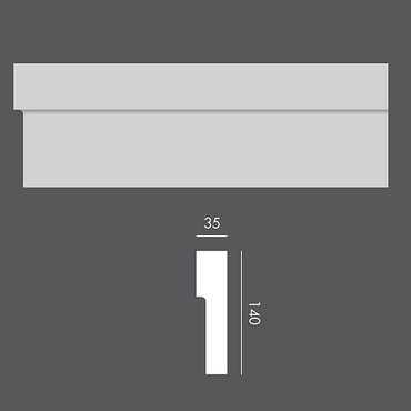 LP054 Profil elewacyjny, listwa elewacyjna